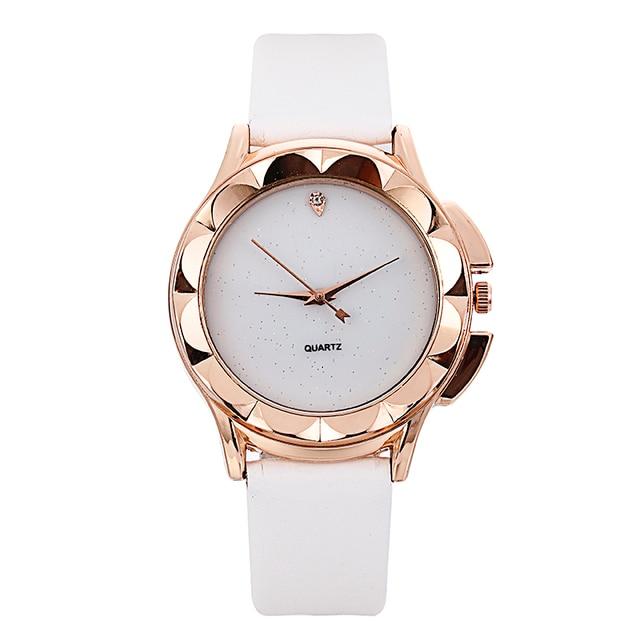 Bgg New 2018 Simple style Women Casual Watch ladies Leather Luxury Watch Woman Quartz Wristwatches female diamond dress Clock