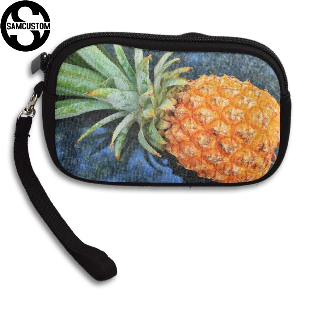SAMCUSTOM Custom pineapple 3D Print New Womens small purse male and female Small wallet Fashion Casual Girl Coin Purse