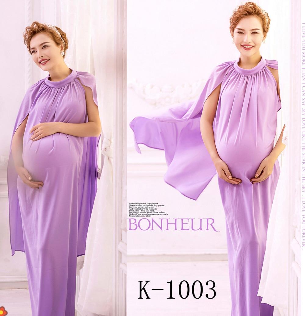 ФОТО 2 color Korean Studio fashion picture pregnant women dress shawl maternity photo photographer fashion maternity dress simple set