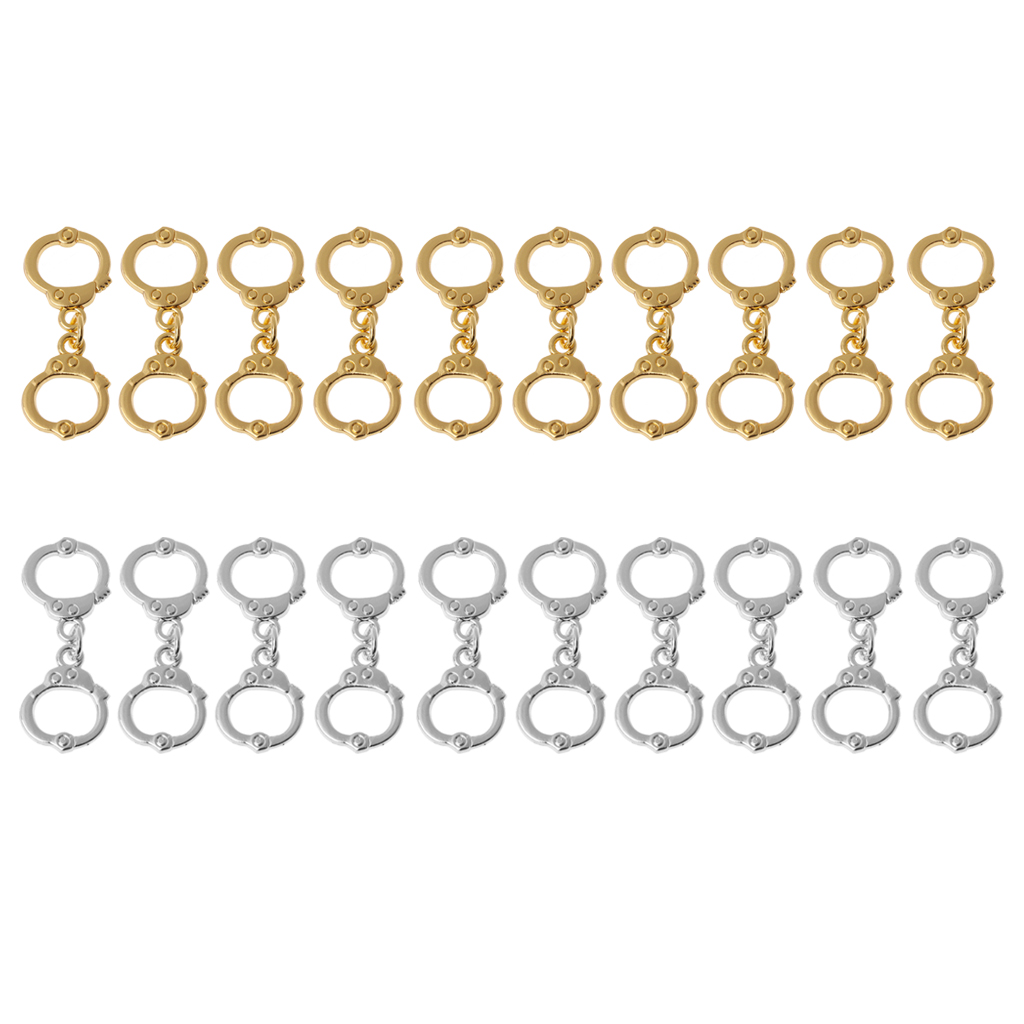 Jewelry Findings & Components Jewelry & Accessories 10pcs Sliver Gold High Polish Police Handcuffs Charm Pendants Diy Jewelry Making Strong Packing