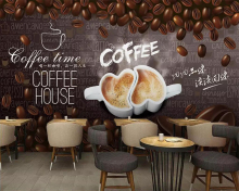 Beibehang Custom wallpaper hand drawn coffee beans decorative painting cafe restaurant tv background wall mural 3d wallpaper