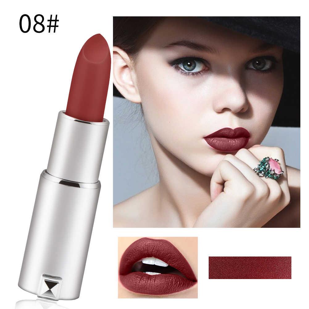 8 צבע מט שפתון לאורך זמן עמיד למים Sxey אדום חום פיגמנט גלוס קטיפה קוסמטי Maquillajes Para Mujer TSLM2