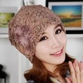 2014 hot selling chemo cancer hat indian style headwrap lace flower turban hats women free shipping