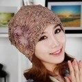 2014 venda quente chapéu câncer quimioterapia índio estilo turbante headwrap lace flor chapéus das mulheres frete grátis