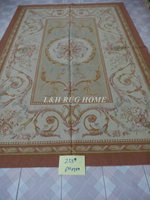 Free shipping 2x3m French Aubusson carpets for home decoration, French abusson hand weave woolen rug