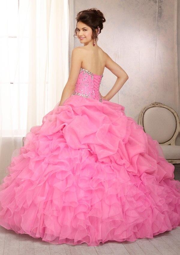 Vestidos De Fiesta Custom Made Yellow/Pink/Green Organza Beading ...