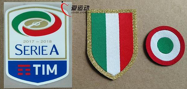 1aff28f3db 17-18 new Silicone coppa Italia Serie A patch + merah Lingkaran patch + dada
