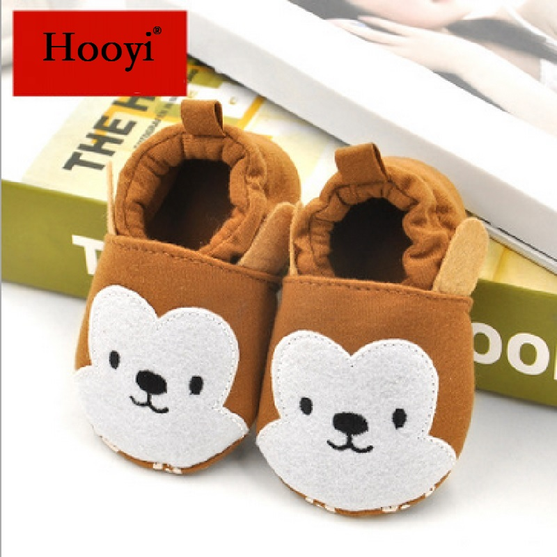 Brown Monkey Baby Boy Shoes Cotton Bebe Shoe Anti-Slip Newborn First Walker 2018 Autumn Kids Sport Shoe