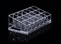 Transparent Acrylic Lipstick Organizer Tray Makeup Beauty Container Box 18 Dividers