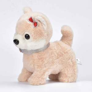 Image 2 - Robot köpek ses kontrolü interaktif köpek elektronik peluş hayvan oyuncaklar yürümek Bark tasma oyuncak oyuncaklar çocuk doğum günü hediyeleri için