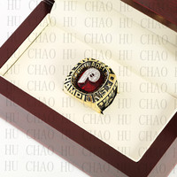 Team Logo Wooden Case 1980 PHILADELPHIA PHILLIES World Series Championship Ring 10 13 Size Solid Back