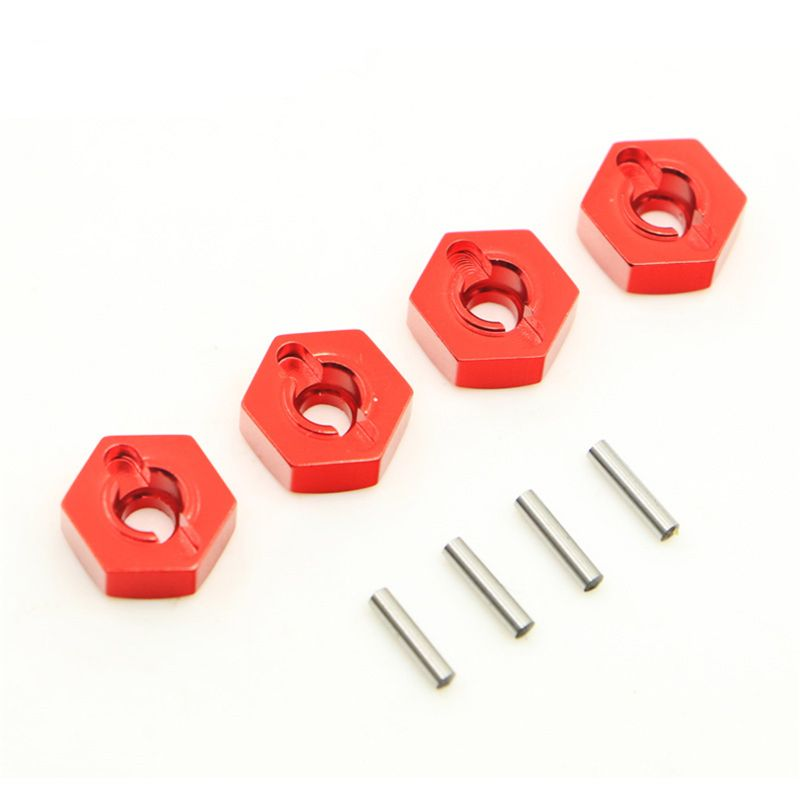 Good Quality New Aluminum Hexagon <font><b>Wheel</b></font> Hex Seat Mount Hub Pins For 1:10 HSP <font><b>RC</b></font> 1 <font><b>set</b></font> image