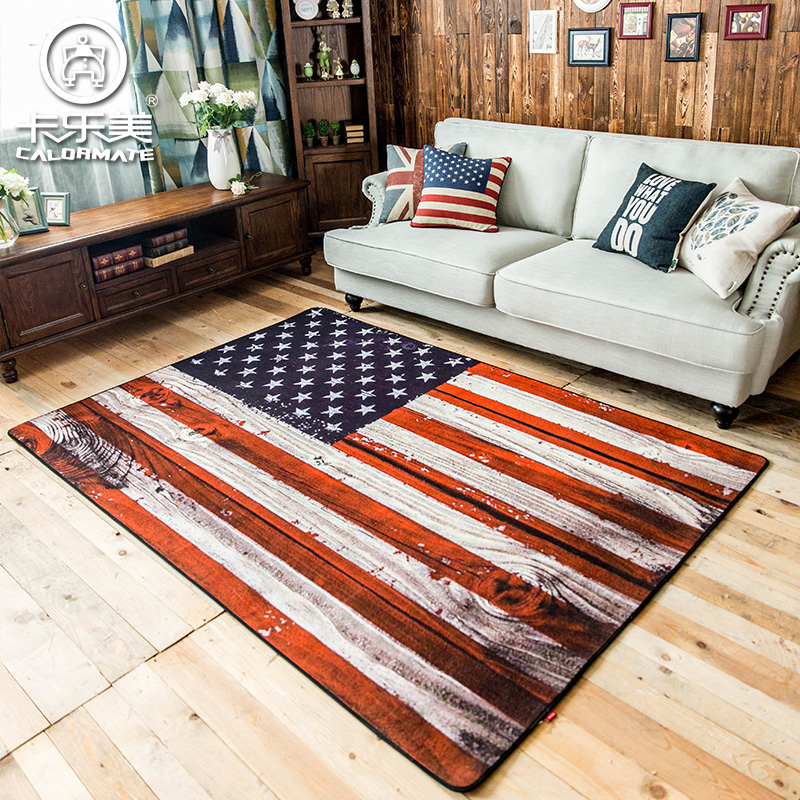 Classical Old Style American Union Flag Carpet Environmental Protection Non  Slip Living Room Rug 1600MMX2300MM In Carpet From Home U0026 Garden On ...