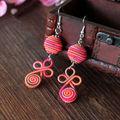 Novo estilo de jóias de acessórios Pure Handmade Weave linha de liga Beads brincos Dangler Eardrops