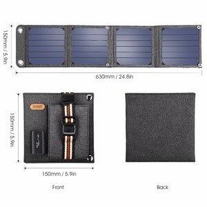 Image 4 - لوحات شمسية محمولة من Suaoki بقدرة 14 وات مزودة بشاحن 5 فولت و2. 1 أمبير تعمل بمنفذ USB للهواتف الذكية وأجهزة الكمبيوتر المحمول الخارجية