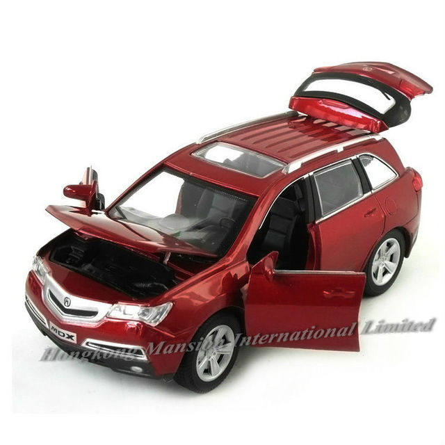 1 32 Scale Alloy Cast Metal Car Model For Honda Acura Mdx Collection Off Road Vehicle Pull Back Sound Light Toys