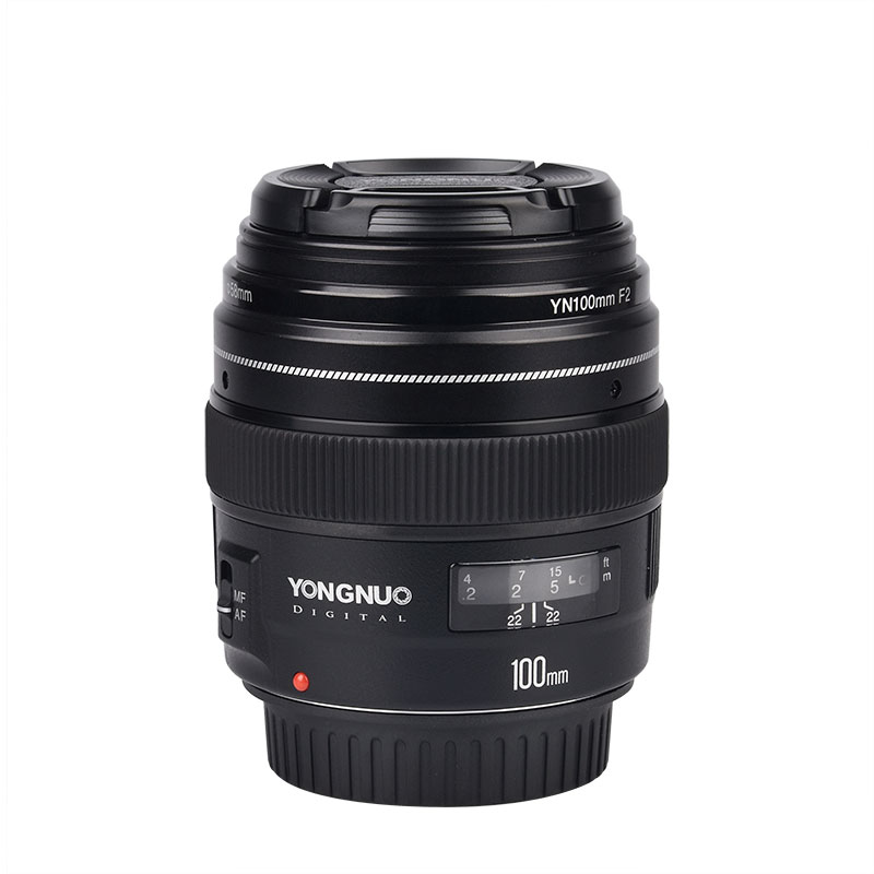 NEW Yongnuo 100mm Medium Telephoto Prime YN100mm F2 Lens for Cano*  EOS Rebel Camera AF MF yongnuo yn100mm f2 af mf medium telephoto prime lens fixed focal for canon eos rebel camera ef mounting port 600d 60d 80d 6d5d3