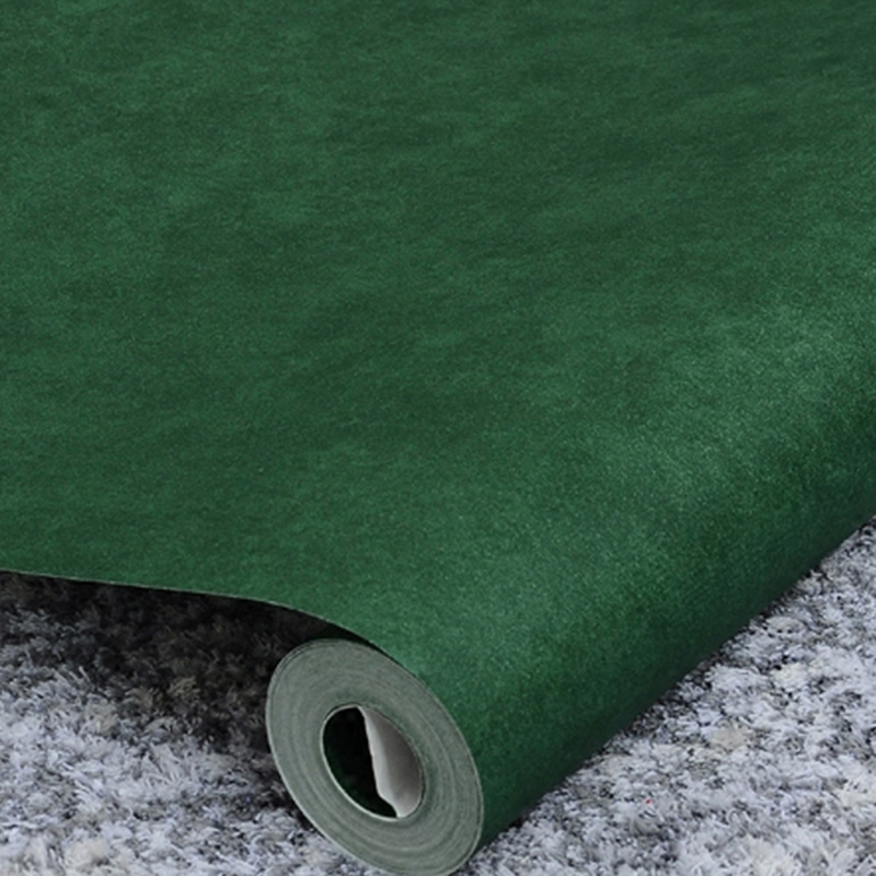 Papel De Parede 3D Dark Green Retro PVC Self-adhesive Solid Color Wallpaper Stickers Bedroom Wall Paper Dormitory Wall Sticker