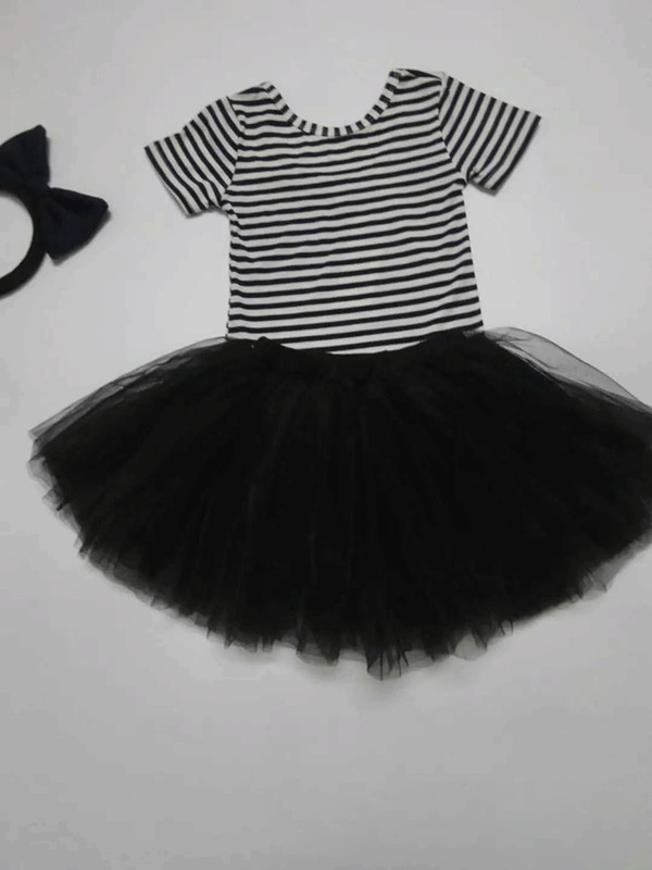 Kids Baby Girls Skirt Kids Cute Ball Gown Dance Pettiskirt Net Veil Skirt Toddler Wedding Party Fluffy Tulle TUTU Skirts black  (3)