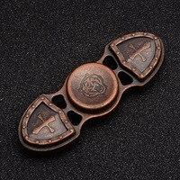 Copper fidget spinner Vintage Low noise High Speed Fine craft Lasting rotation hand spinner #T018