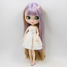 Factory Neo Blythe Doll Light Purple Brown Hair Jointed Body 30cm