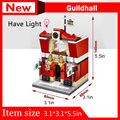 2017 New Mini Street View Building Block City Toys SD6520 Red City Hall Free shipping