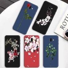 Цветной чехол для телефона с отверстиями для samsung Galaxy J4 J6 EU Plus, мягкие силиконовые Матовые чехлы для Galaxy J5 J7 Prime