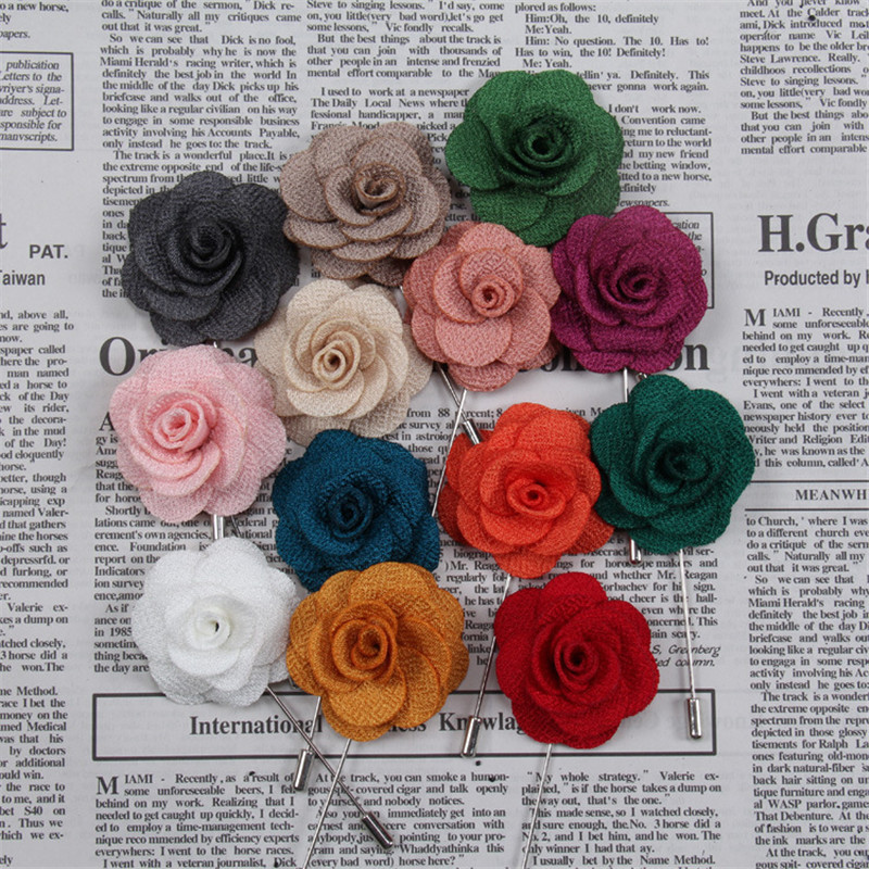Women Men Daisy Flower Brooch Lapel Pins Suit Boutonniere Bridal Wedding Decor