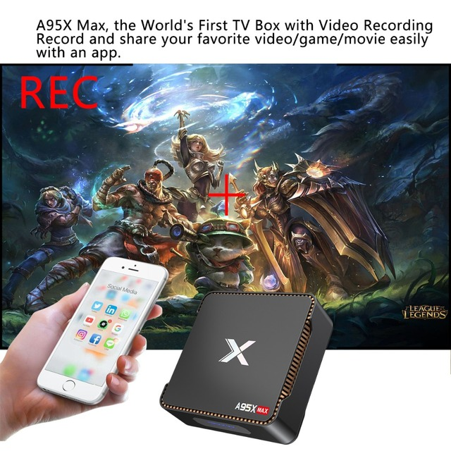 A95X MAX Smart Android 8.1 TV Box 4G 64G S905X2 2.4G+5G Wifi BT 4.2 1000M 2G 32G 4K Media Player Support Video Recording Ott Box 6