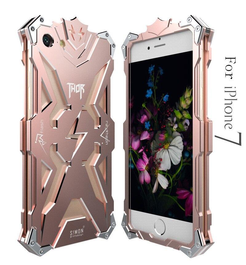 Zimon Brand Thor Luxury Heavy Duty Armor Metal Aluminum Coque Fundas Phone Case For Apple iPhone 6 6S 7 8 PLUS 5 5S SE 5C Cover