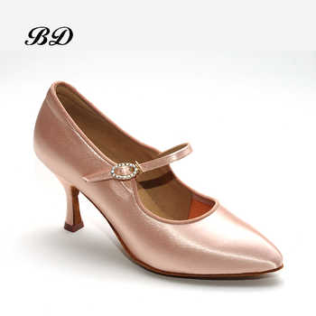 Adult Sneakers Dance Shoes Modern Brand Square BD137 Party Ballroom Latin Shoes Women Satin Diamonds Soft base of Cowhide HOT - DISCOUNT ITEM  55% OFF All Category