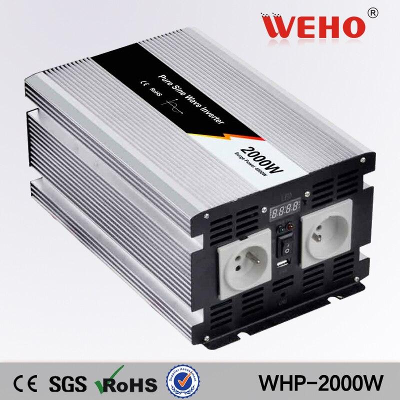 (WHP-2000-242)2000W (4000W peak) Pure Sine Wave Power Inverter 24V / 220V AC