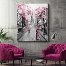 Diy краски по номерам картины по номерам с комплектами Парижская башня декоративная подвесная картина наполнение и раскраска подарок