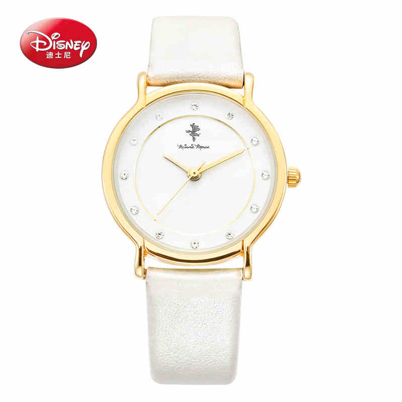 Disney Gold Diamond Quartz Watch Women Ladies Famous Brand Luxury Golden Wrist Watch Female Clock Montre Femme Relogio Feminino цена и фото