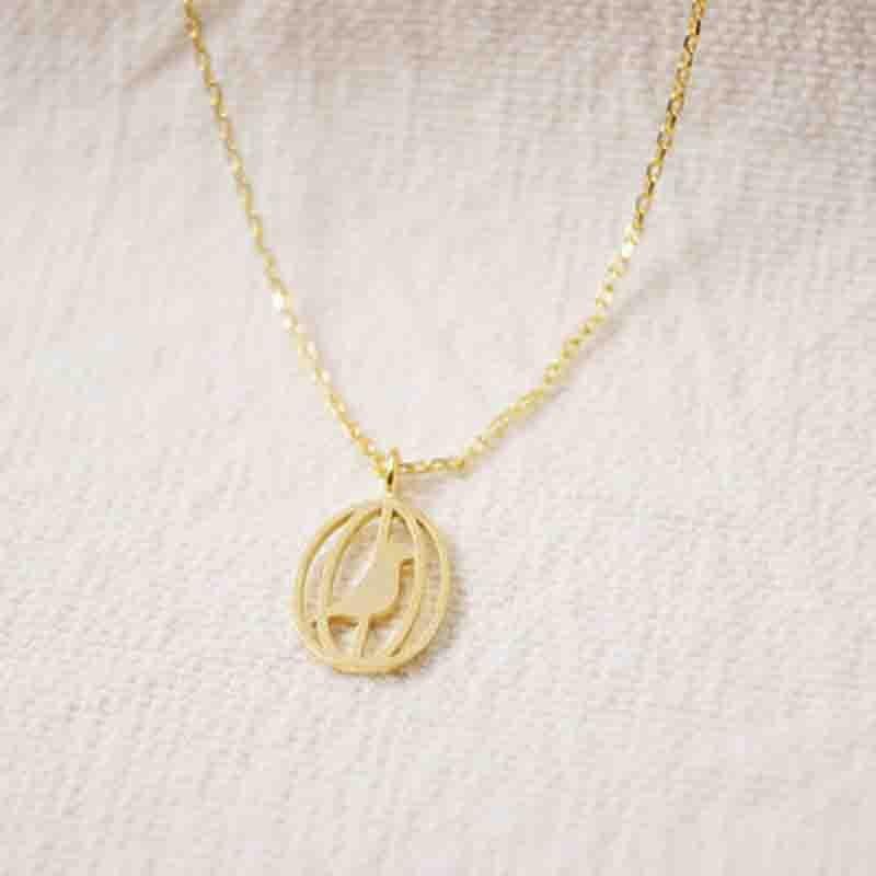 c04f3f9a3b02 Venta al por mayor 30 pc de moda oro plata oro rosa precioso pájaro en la  jaula colgante de las mujeres collar Joyeria regalo envío gratis