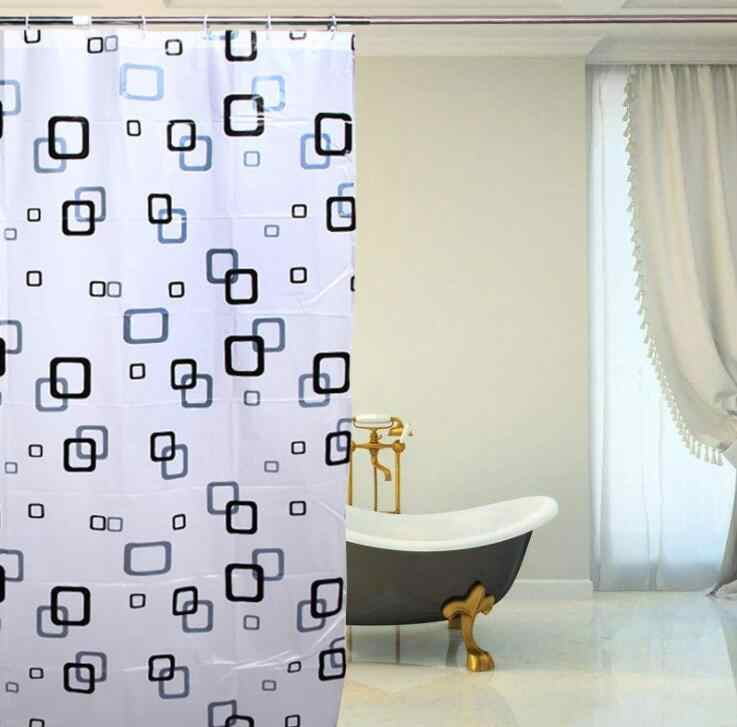 180(W)*240(H)cm PEVA Eco-friendly  Bathroom Waterproof Shower Curtain Retaining water curtain With hook