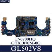 KEFU GL502VS Laptop motherboard for ASUS GL502VS GL502VSK GL502V GL502 Test original mainboard I7-CPU GTX1070M-8G