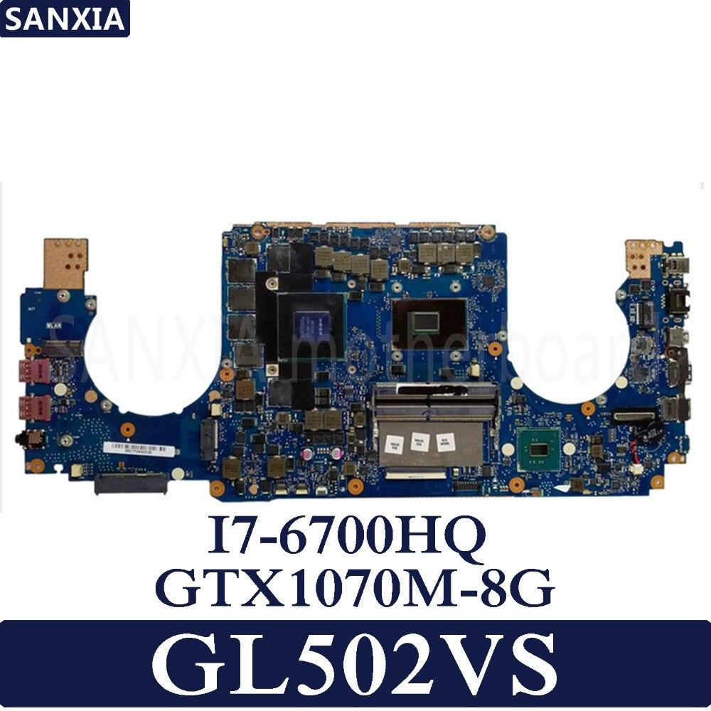 Placa base para ordenador portátil KEFU GL502VS para ASUS GL502VS GL502VSK GL502V GL502 prueba original I7-CPU GTX1070M-8G