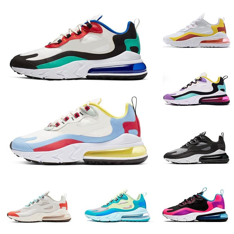 2019 react men women running shoes BAUHAUS OPTICAL triple black HYPER PINK RIGHT VIOLET mens trainers breathable sports sneakers