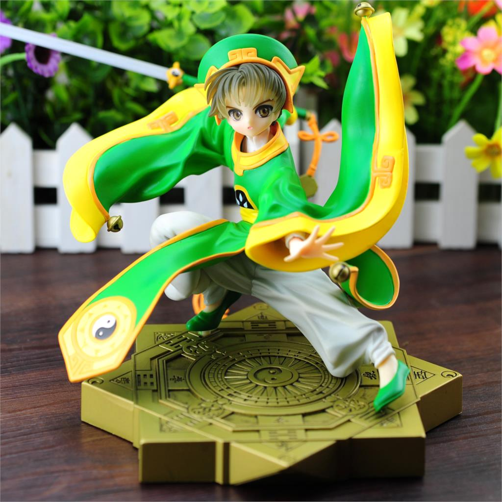 Anime Cardcaptor Sakura Li Syaoran 1/7 Scale PVC Painted Figure Collectible Model Toy 20cm KT1710 a toy a dream figma cardcaptor sakura kinomoto sakura doll 244 pvc action figure japanese anime figures model toy 15cm in box