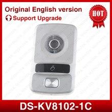 ХИК Оригинальный DS-KV8102-1C (DS-KV8102-IP), WDR камеры, HD Визуальный интерком дверной звонок водонепроницаемый, IC карты, IP проводной домофон