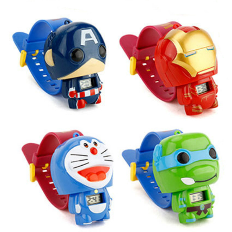 N0003 Kids Watches Nijago Hulkbuster Iron Man Spiderman Toy For Children Watch Girl Boy