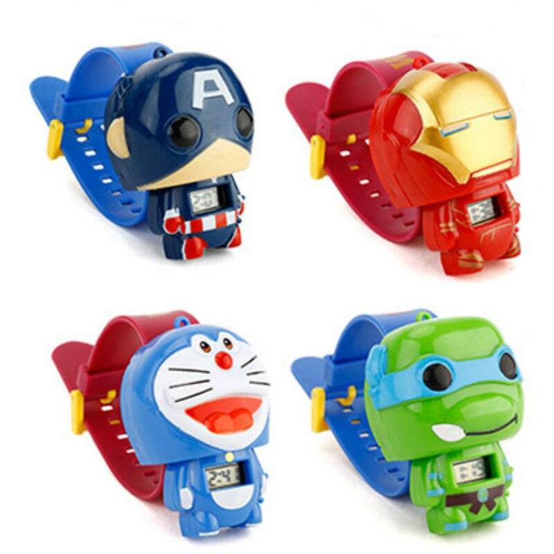 N0003 Kids Watches Nijago Hulkbuster Iron Man Spiderman Toy For Children Watch Girl Boy