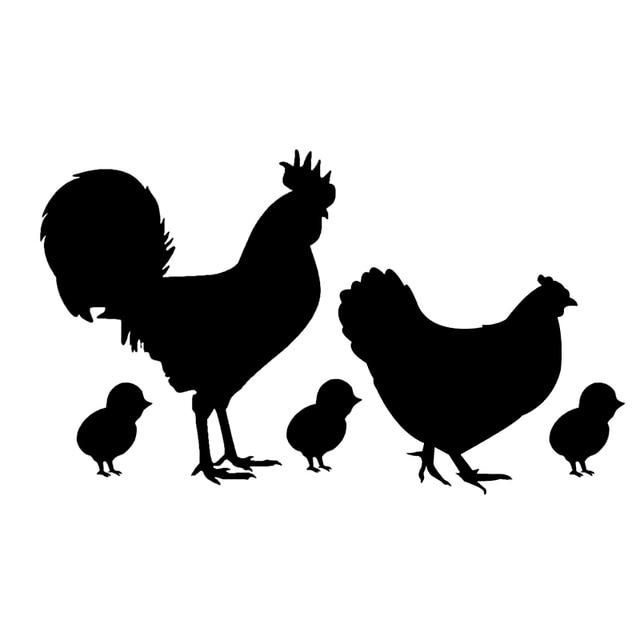 15 8 8cm Lovely Chicken Family Vinyl Car Styling Farm