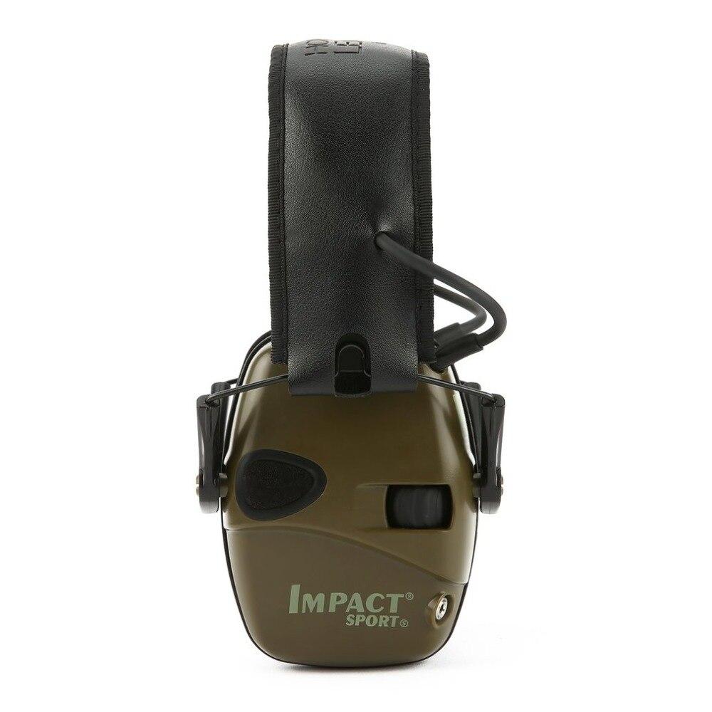 Auricular de disparo electrónico para deportes al aire libre Anti-ruido impacto sonido amplificación auriculares tácticos de protección auditiva plegable