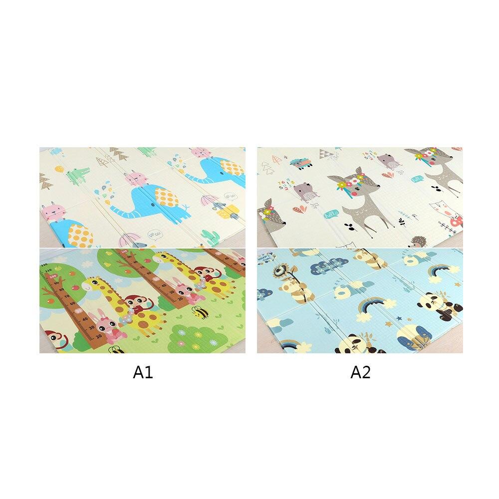 Tapis pliant bébé tapis de jeu tapis ramper en mousse réversible imperméable Portable Double côtés enfants bébé enfant en bas âge utilisation extérieure ou intérieure - 6