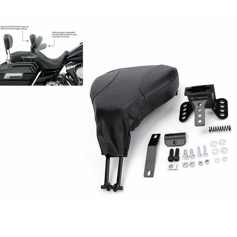 Motorcycle Black Adjustable Driver Rider Backrest For Harley Electra Road Glide King Street Glide	2009-UP