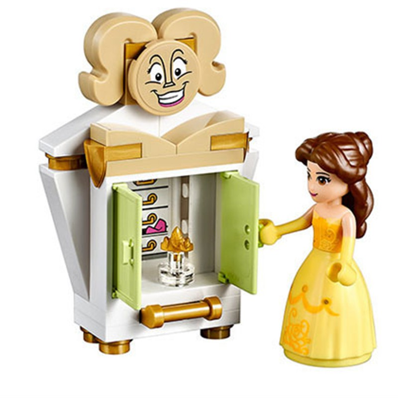 Toys & Hobbies Princess Belles Enchanted Castle 379pcs Bricks Beauty And The Beast Building Blocks Toys For Kids Compatible With Legoing 41067 Elegant Appearance Blocks