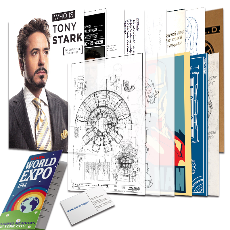 Iron Man Tony Stark Archives SHIELD Agents Folders Avengers League Information Marvel