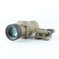 SPINA OPTICS ZBL 4X 32 B Range Sight QD Flip to Side Magnifier Scope for Better Peripheral Vision 4x32 scope